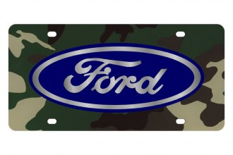 Eurosport Daytona® - Ford Motor Company - Green Camouflage License Plate with Silver Ford Logo