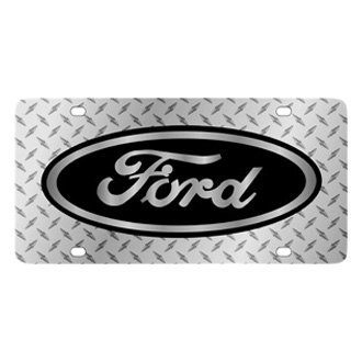 Eurosport Daytona® - Ford Motor Company Diamond License Plate with Black Ford Logo