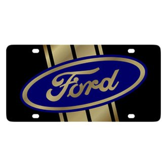 Eurosport Daytona® - Ford Motor Company Black License Plate with Gold Ford Logo