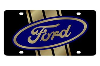 Eurosport Daytona® - Ford Motor Company - Black License Plate with Gold Ford Logo