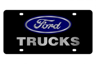 Eurosport Daytona® - Ford Motor Company Black License Plate with Silver Ford Trucks Logo