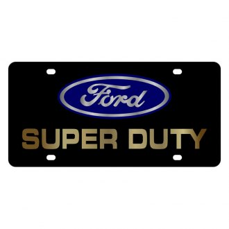 Eurosport Daytona® - Ford Motor Company Black License Plate with Gold Super Duty Logo