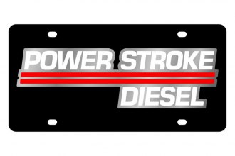 Eurosport Daytona® - Ford Motor Company Black License Plate with Silver Power Stroke Logo