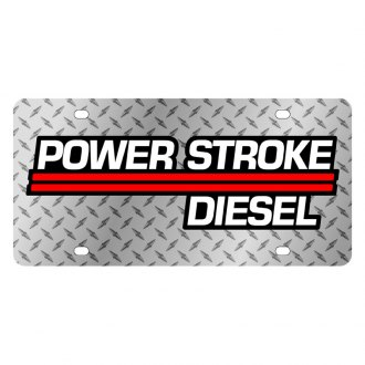 Eurosport Daytona® - Ford Motor Company Diamond License Plate with Black Power Stroke Logo