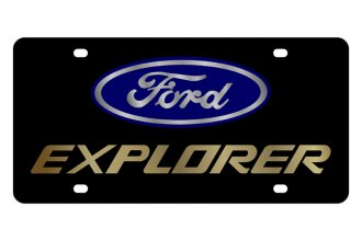 Eurosport Daytona® - Ford Motor Company Black License Plate with Gold Ford Explorer Logo