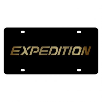 Eurosport Daytona® - Ford Motor Company Black License Plate with Gold Ford Expedition Logo
