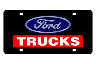 Eurosport Daytona® - Ford Motor Company - Black License Plate with Silver Ford Trucks Logo