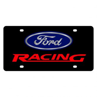 Eurosport Daytona® - Ford Motor Company License Plate with Red Racing Logo and Ford Emblem with Red Racing Logo