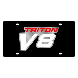 Eurosport Daytona® - Ford Motor Company Black License Plate with Silver Triton V8 Logo