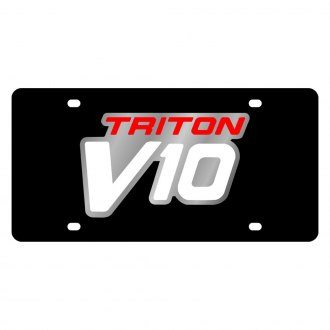 Eurosport Daytona® - Ford Motor Company Black License Plate with Silver Triton V10 Logo