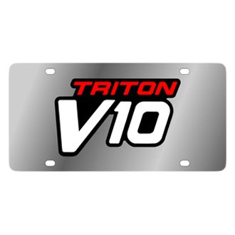 Eurosport Daytona® 2537-3 - Ford Motor Company Stainless Steel License Plate with Black Triton V10 Logo