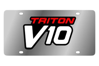 Eurosport Daytona® - Ford Motor Company Stainless Steel License Plate with Black Triton V10 Logo