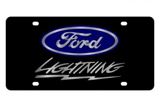 Eurosport Daytona® - Ford Motor Company Black License Plate with Silver Lightning Logo
