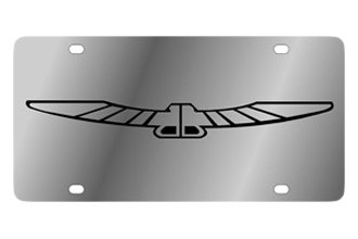 Eurosport Daytona® - Ford Motor Company Stainless Steel License Plate with Black Thunderbird Logo