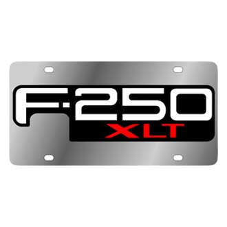 Eurosport Daytona® - Ford Motor Company Stainless Steel License Plate with Black F-250 Logo