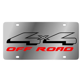 Eurosport Daytona® - Ford Motor Company Stainless Steel License Plate with Black 4x4 Off Road Logo