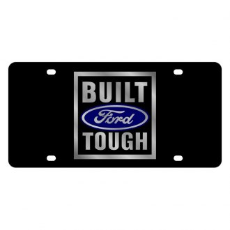 Eurosport Daytona® - Ford Motor Company Lazertag Black License Plate with Silver Built Ford Tough Logo