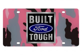 Eurosport Daytona® - Ford Motor Company - Pink Camouflage License Plate with Built Ford Tough Logo