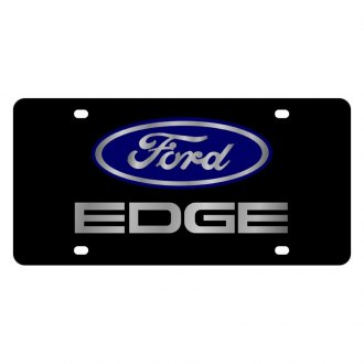 Eurosport Daytona® - Ford Motor Company Black License Plate with Silver Ford Edge Logo