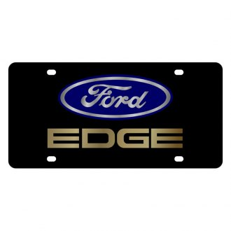 Eurosport Daytona® - Ford Motor Company Black License Plate with Gold Ford Edge Logo
