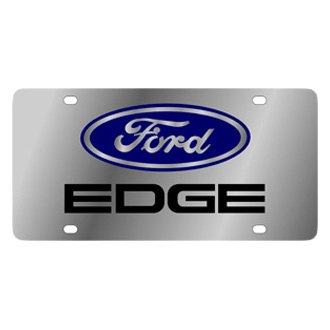 Eurosport Daytona® - Ford Motor Company Stainless Steel License Plate with Black Edge Logo