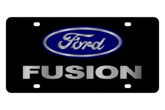 Eurosport Daytona® - Ford Motor Company - Black License Plate with Silver Fusion Logo