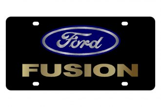 Eurosport Daytona® - Ford Motor Company - Black License Plate with Gold Fusion Logo