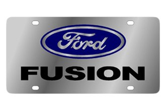 Eurosport Daytona® - Ford Motor Company - Stainless Steel License Plate with Black Fusion Logo