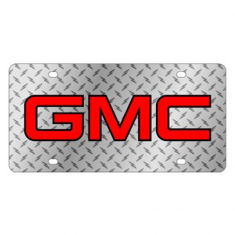 Eurosport Daytona® - GM Diamond License Plate with Black GMC Logo