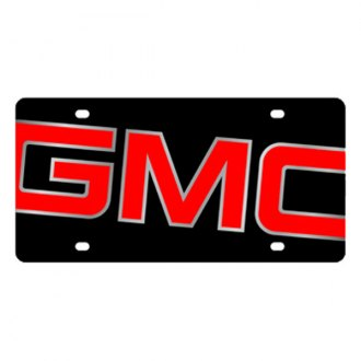 Eurosport Daytona® - GM Black License Plate with Silver GMC Logo