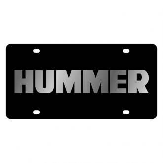 Eurosport Daytona® - GM Black License Plate with Silver Hummer Logo