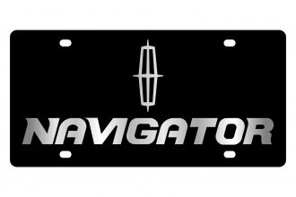 Eurosport Daytona® - Ford Motor Company Black License Plate with Silver Navigator Logo
