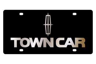 Eurosport Daytona® - Ford Motor Company Black License Plate with Gold Town Car Logo