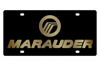 Eurosport Daytona® 2724-2 - Ford Motor Company Black License Plate with Gold Marauder Logo