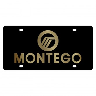 Eurosport Daytona® - Ford Motor Company Lazertag Black License Plate with Gold Montego Logo and Mercury Emblem