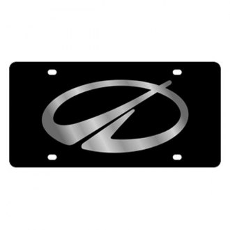 Eurosport Daytona® - GM Black License Plate with Silver Oldsmobile Logo