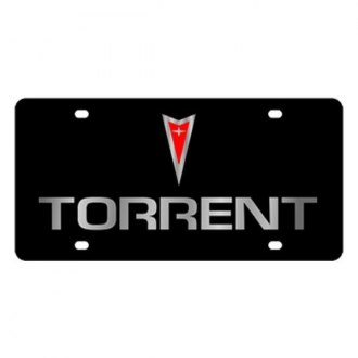 Eurosport Daytona® - GM Black License Plate with Silver Torrent Logo