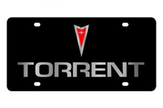 Eurosport Daytona® - Silver Torrent Logo on Black Lazertag Series License Plate