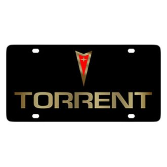 Eurosport Daytona® - GM Black License Plate with Gold Torrent Logo