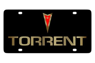 Eurosport Daytona® - Gold Torrent Logo on Black Lazertag Series License Plate