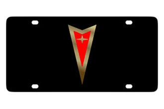 Eurosport Daytona® - GM Black License Plate with Gold Pontiac Logo