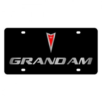 Eurosport Daytona® - GM Black License Plate with Silver Grand Am Logo & Word