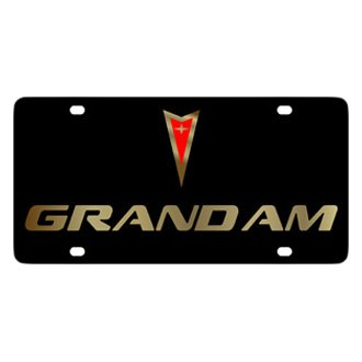 Eurosport Daytona® - GM Black License Plate with Gold Grand Am Logo & Word