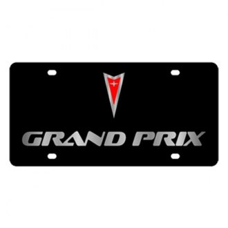 Eurosport Daytona® - GM Black License Plate with Silver Grand Prix Logo & Word