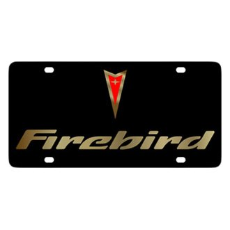 Eurosport Daytona® - GM Black License Plate with Gold Firebird Logo