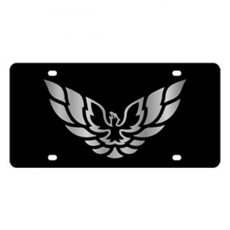 Eurosport Daytona® - GM Black License Plate with Silver Firebird Logo