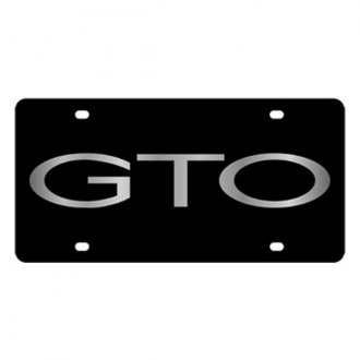 Eurosport Daytona® - GM Black License Plate with Silver GTO Word
