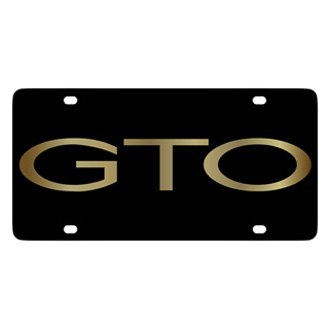 Eurosport Daytona® - GM Black License Plate with Gold GTO Word