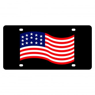Eurosport Daytona® - LSN License Plate with American Flag Waving Logo