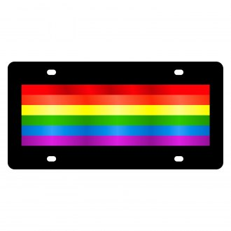 Eurosport Daytona® - LSN License Plate with Gay Pride Flag Logo